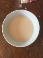 Dissolve yeast in warm water