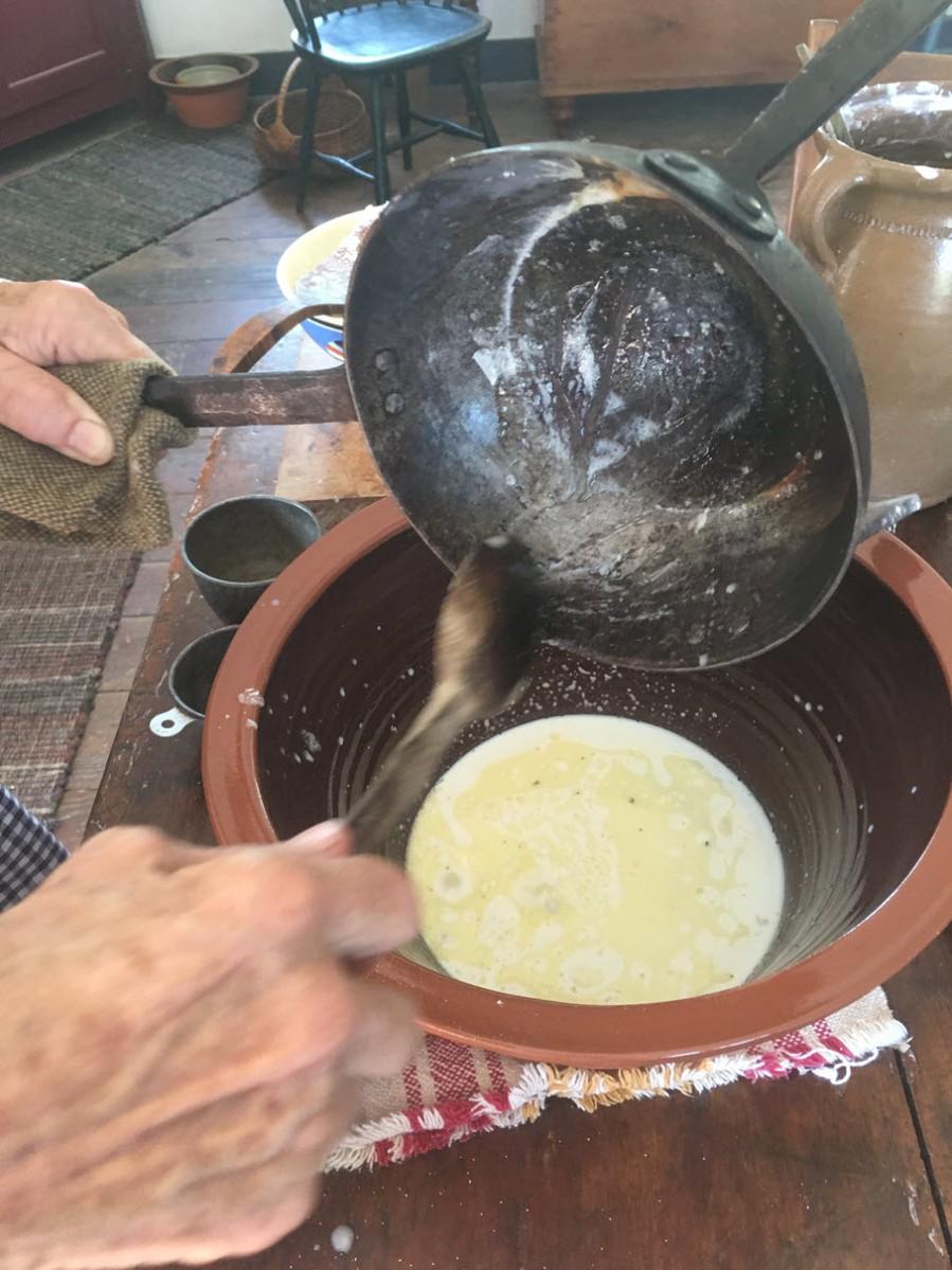 Stir in sugar, salt and butter
