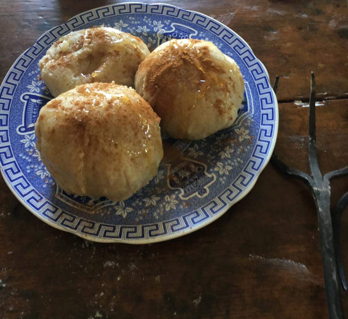 Honey on top of dumplings